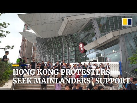 Hong Kong extradition bill protesters march in Kowloon