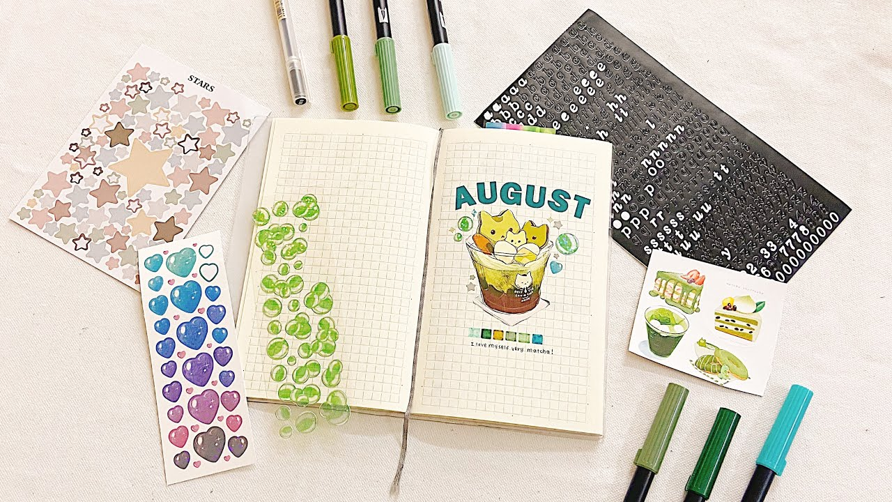 plan with me   làm bullet journal tháng 8/2021 + Q&A   2021 aug bullet journal setup for beginners