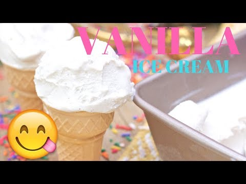 How to Make Homemade Vanilla Ice Cream (No eggs needed)