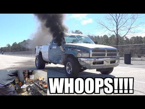 SENDIT SCRAP TRUCK GOES RACING!!! FIRST 12V CUMMINS MOD, MAKE SURE YOU DO THIS!!!!