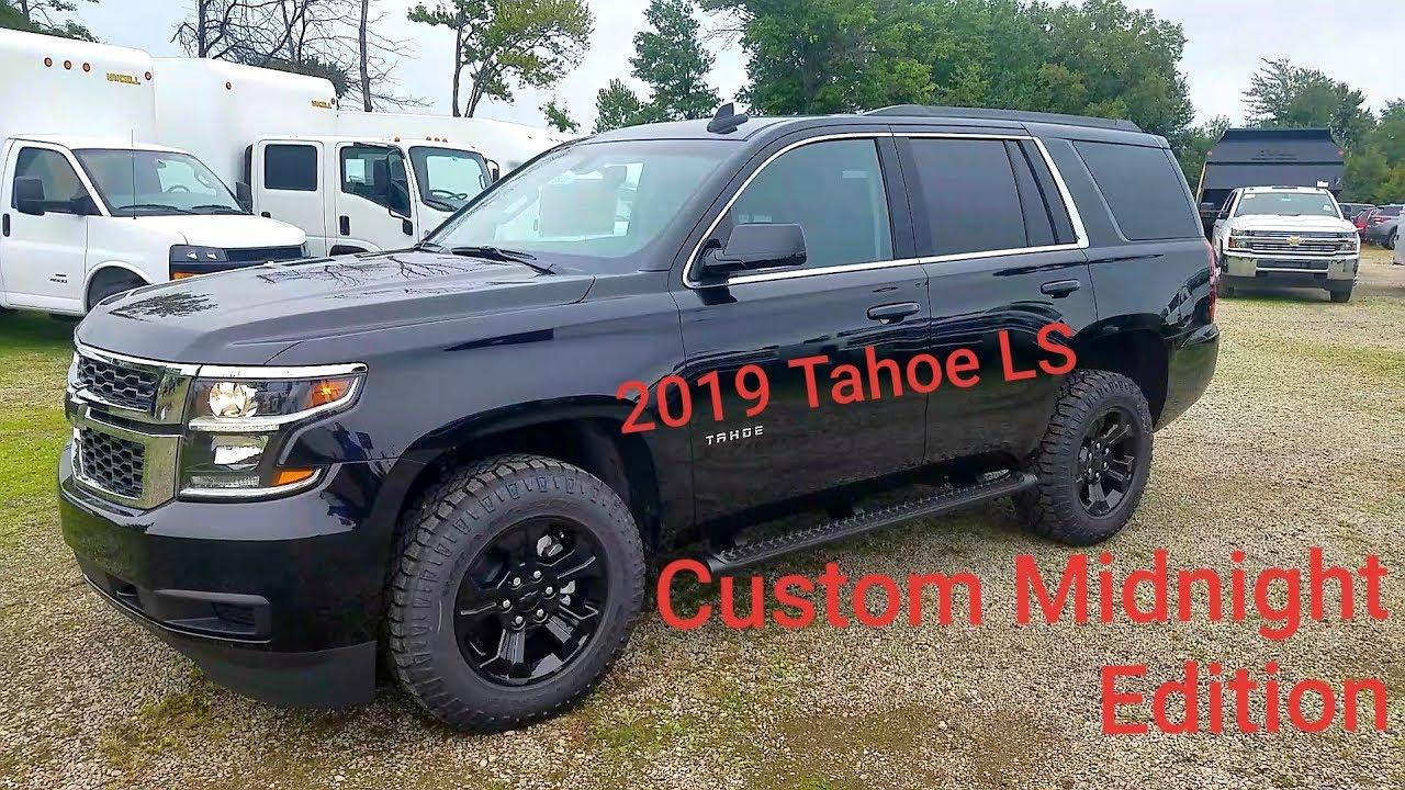 Custom Chevy Tahoe >> 2019 Chevy Tahoe Ls Custom Midnight Edition 4x2 Full Walk Around Review