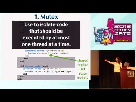 GoGaRuCo 2013 - Thread Safety First by Emily Stolfo