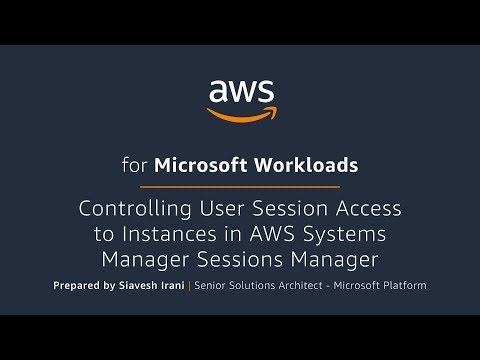 Controlling User Session Access to Instances in AWS System Manager Session Manager