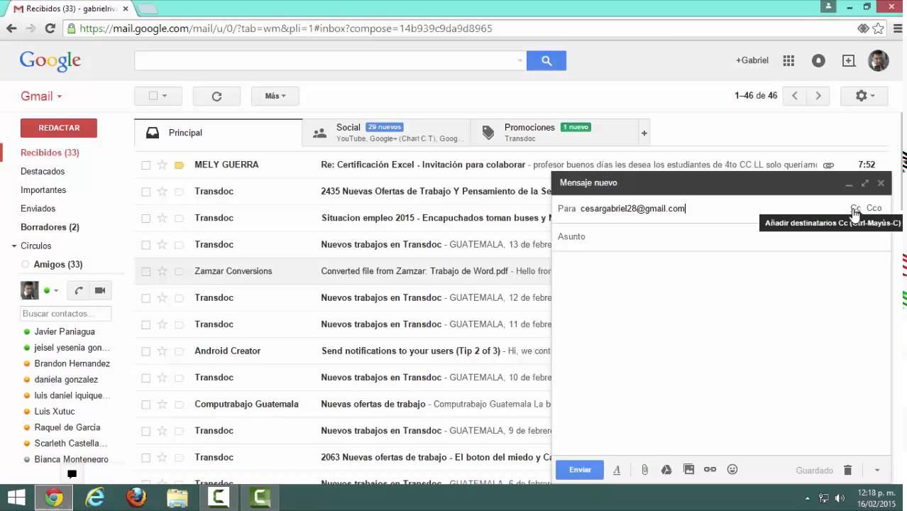 Enviar un correo electrónico de Gmail YouTube