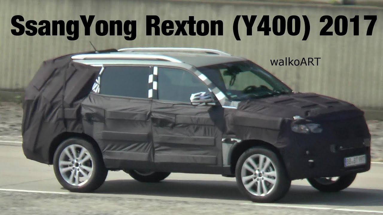erlk nig ssangyong rexton y400 auf teststrecke 2017 prototype spotted on test course spy video. Black Bedroom Furniture Sets. Home Design Ideas