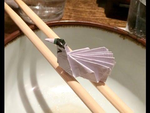 Origami Chopstick Wrapper Bird | 360x480
