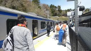 E531系富岡行き Jヴィレッジ発車