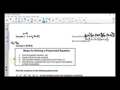 algebra 2B 5 12 notes write poly form solutions