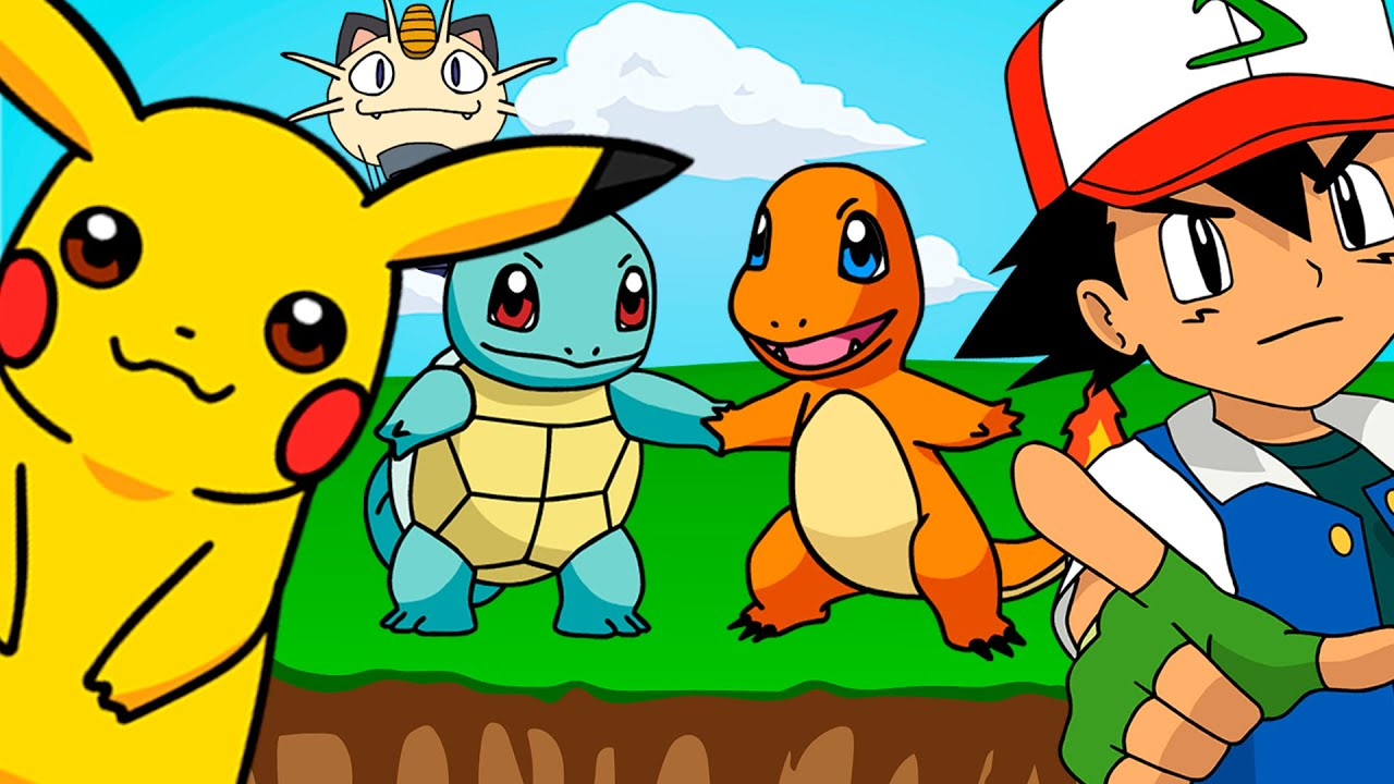 FIVE LITTLE POKEMON 🌟 Ash, Pikachu, Charmander, Squirtle ...