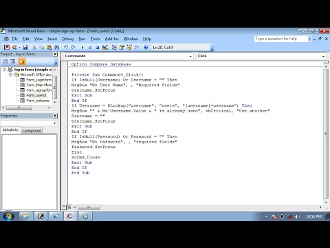 how to make simple sign up form in ms access database simplecoding