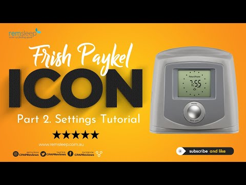 Fisher and Paykel ICON Plus Patient Settings
