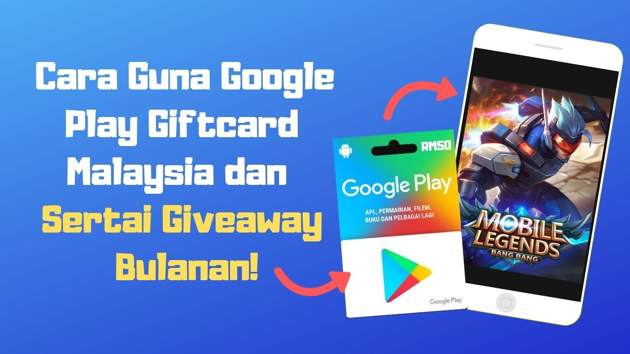 Cara Guna Google Play Giftcard Malaysia   Giveaway Free Google Play GiftCard