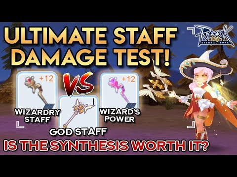 TESTING THE NEW WIZARD'S POWER Vs WIZARDRY STAFF Vs GOD STAFF