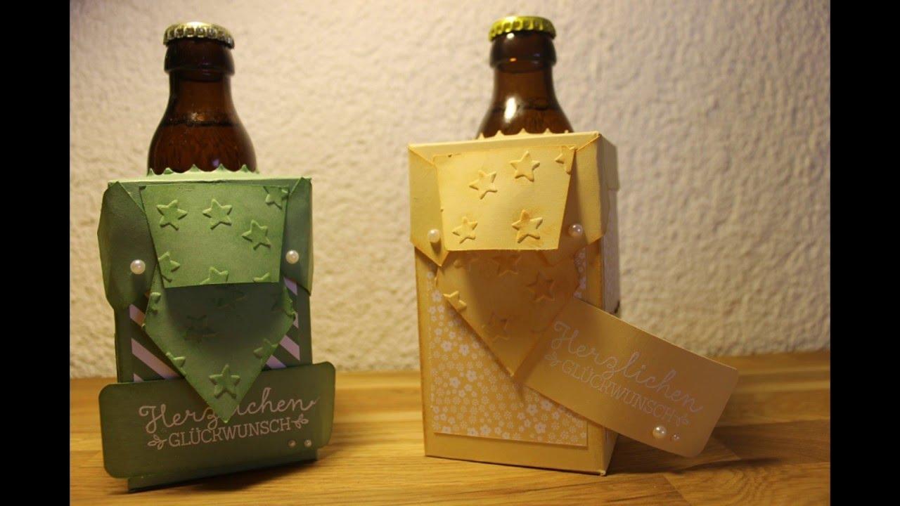 Verpackung fr Bierflasche mit Stampin Up  YouTube