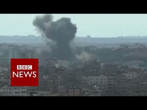 Smoke rises over Gaza - BBC News
