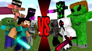 Monster School : The Monsters and Herobrine VS Entity 303' and his gang- Minecraft Animation