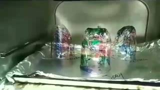 Time Lapse of Melting Plasting Cups in Oven