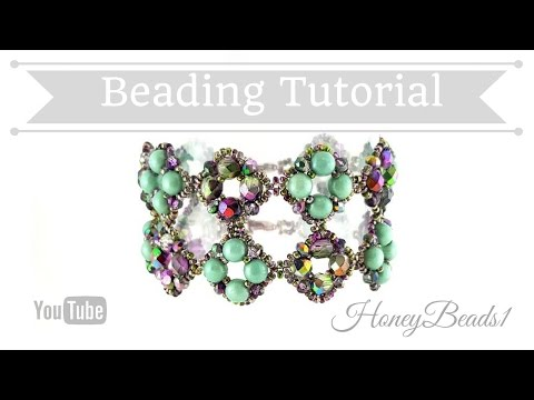 Il Festival Di Trio Bracelet Beading Tutorial by HoneyBeads1 (with roundtrio beads)