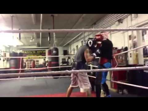 Sparring with pro fighter Frankie De Alba