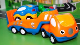 Мультфильмы. Мультики Про машинки Машины помощники - Эвакуатор и Экскаватор. Для детей Машинки.