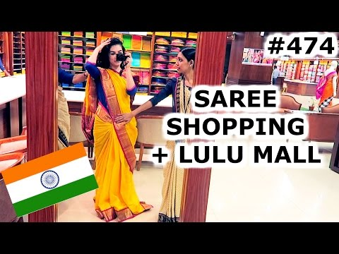 SAREE SHOPPING & LULU MALL | KOCHI DAY | INDIA | TRAVEL VLOG IV