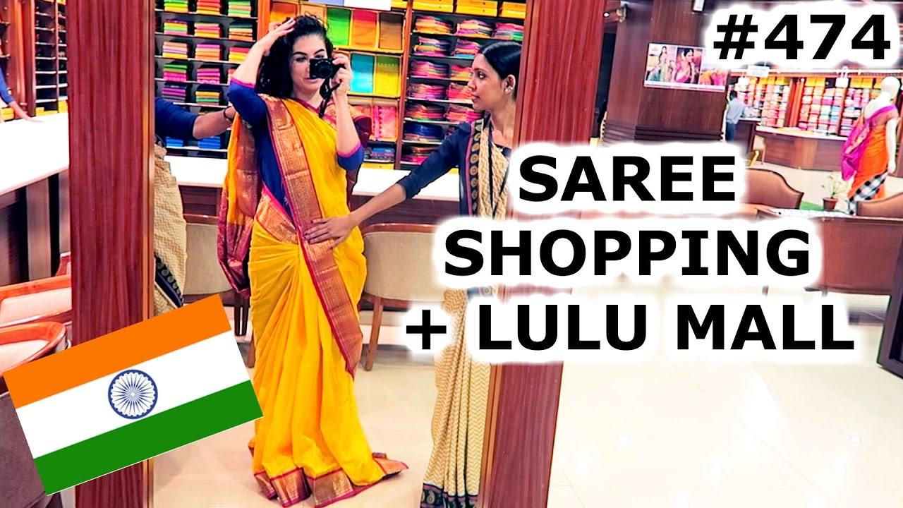 Saree Shopping Lulu Mall Kochi Day India Travel Vlog Iv Youtube