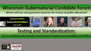 Q 1. Testing and Standardization, Wisconsin Democratic Candidates for governor: