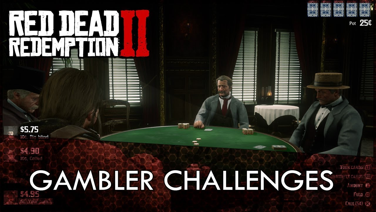 Red Dead Redemption 2 Gambler Challenges Guide