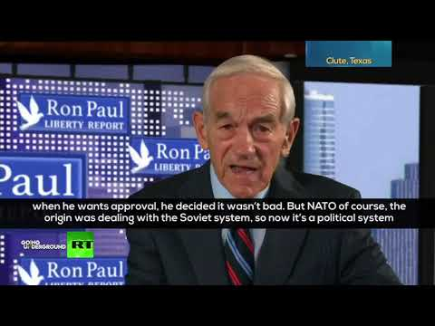 'NATO has been convenient for us to continue the animosity toward Russia' – Ron Paul