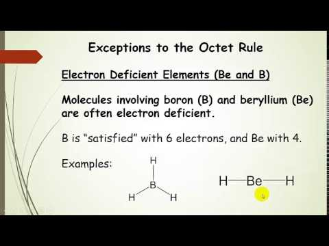Exceptions to the Octet Rule plus examples - YouTube