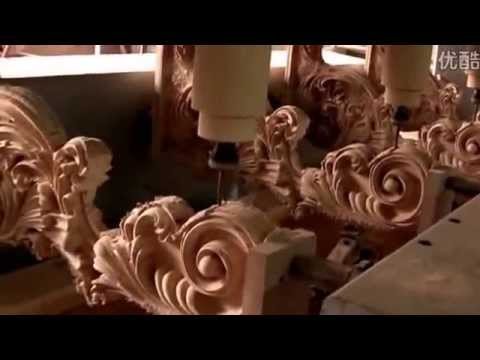 High Performance 4Axis 3D CNC Router for Classic Europe Style Wood  Furniture Carving - YouTube