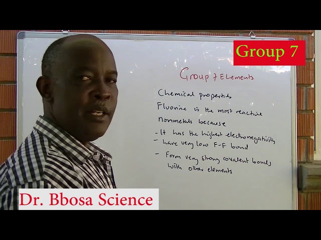 Group 7 fluorine, chlorine, bromine and iodine by Dr  Bbosa Science