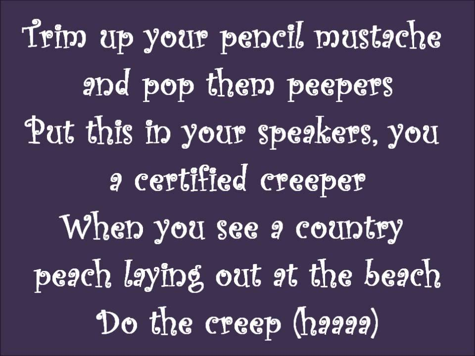 The Lonely Island ft Nicki Minaj - The Creep Lyrics - YouTube