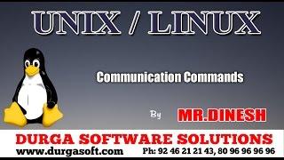 unix linux communication commands