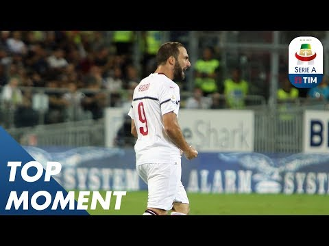 Higuaín Rounds The Keeper And Slots It Home | Cagliari 1-1 Milan | Top Moment |  Serie A