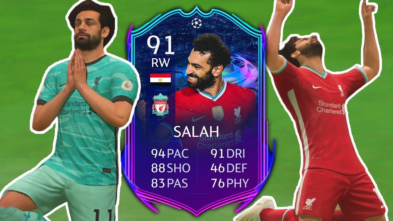 FIFA 21 RTTF Salah Review   91 Road to the Final Mo Salah Player Review - FIFA  21 Ultimate Team - YouTube