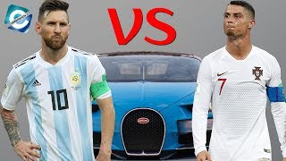 Cristiano Ronaldo Vs. Lionel Messi super car collection 2018