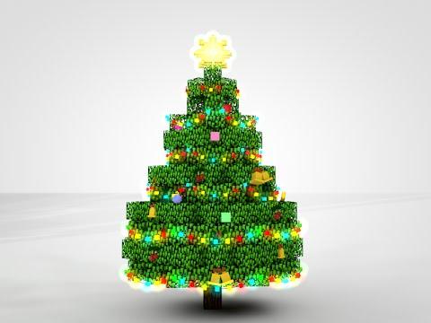 Minecraft Christmas Tree Rig   Cinema 4D - YouTube