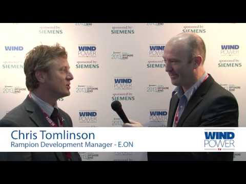 Chris Tomlinson, from E.ON, interviewed at Offshore Wind 2013