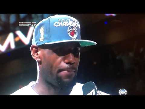 LeBron James NBA Finals MVP Speech