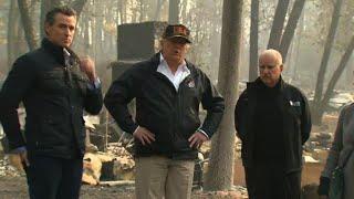 71 Tote, Tausende Vermisste: Trump besucht Waldbrandgebiete in Kalifornien