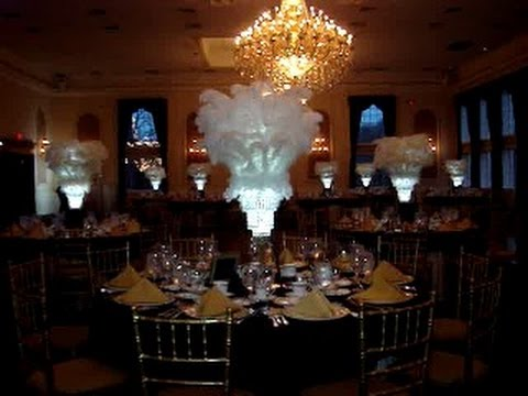 Great Gatsby 1920s Art Deco Wedding Centerpieces At The Estate At