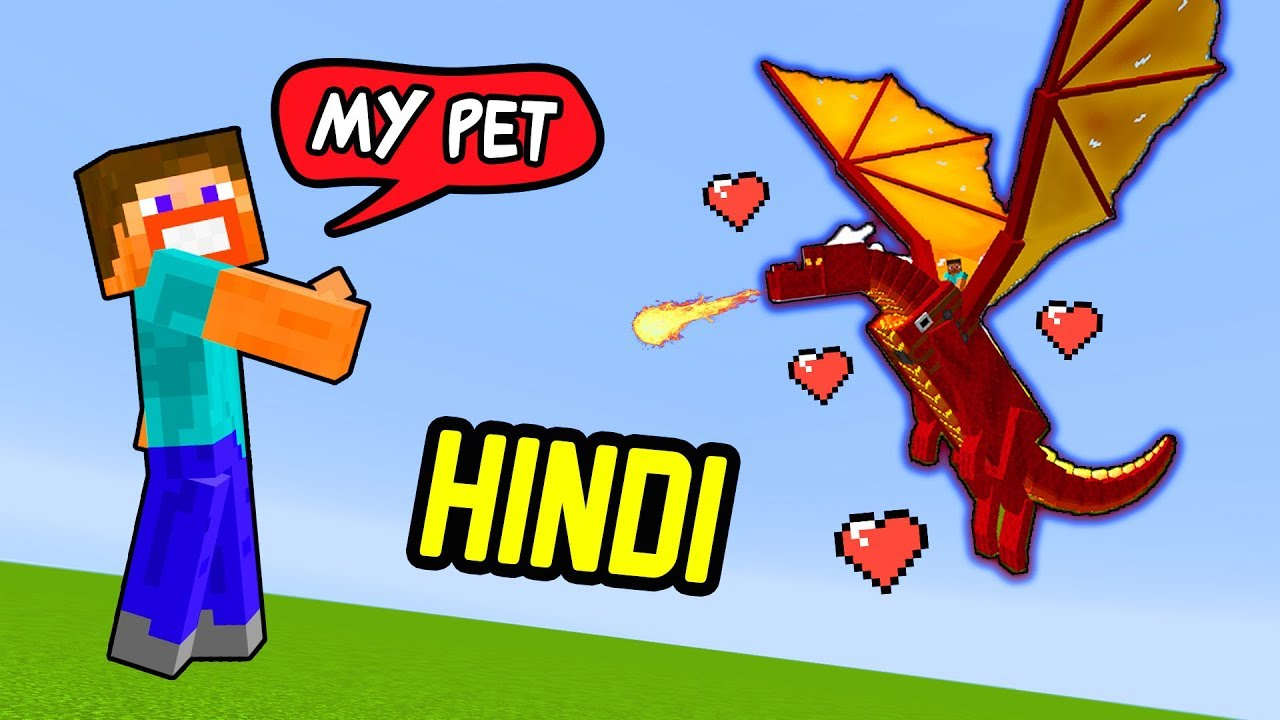 Minecraft HINDI | How To Tame Dragon 🔥🐲😱 [Funny/Hindi] | Hitesh KS