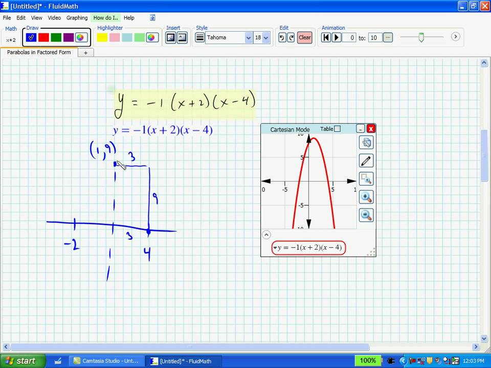 maxresdefault Factored Form Example With Graph on write expression, what is prime, for quadratic, quadratic function, example math,