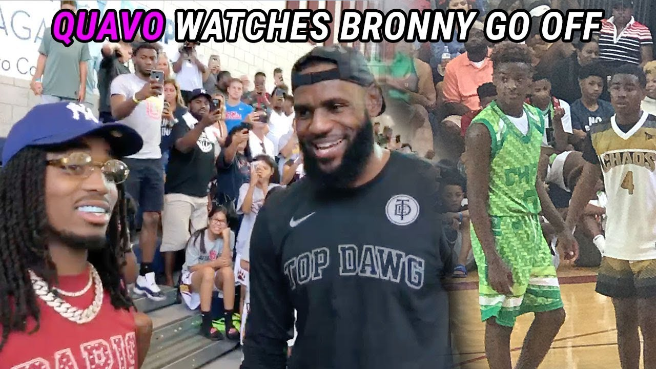 125adb0fadf1 Quavo Watches Bronny James  BEST GAME! Coach LeBron Gets FIRED UP   Other  Team DISRESPECTS 😱