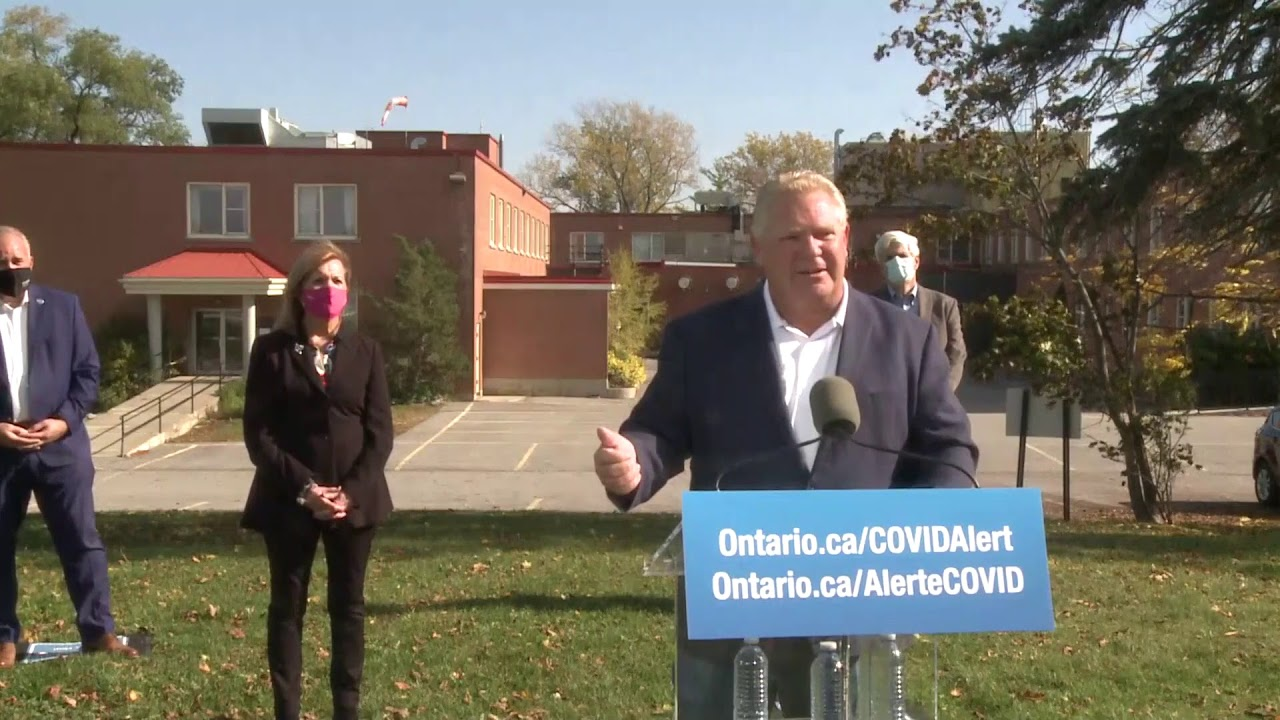 Ontario Premier Doug Ford Provides COVID-19 Update | October 23