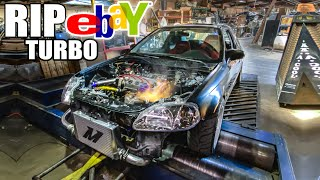 homepage tile video photo for eBay TURBO BLOWS ON THE DYNO!! (finally LOL)