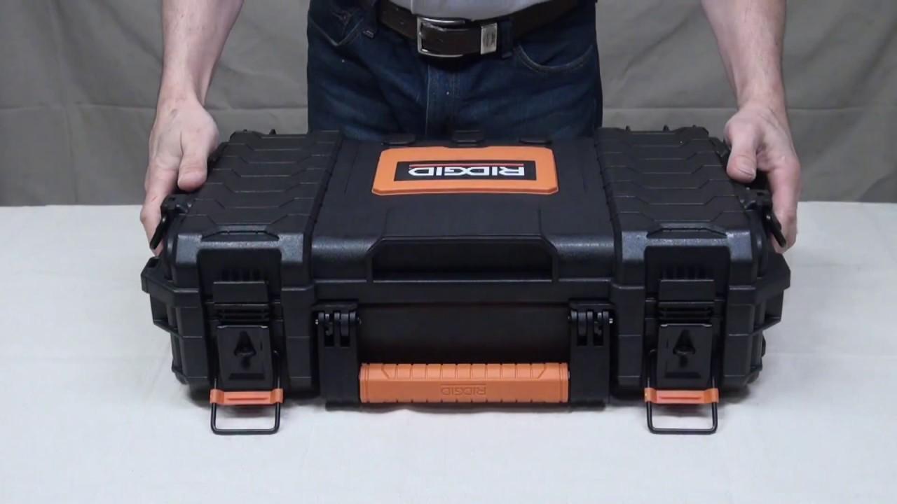 Black RIDGID 22 in Pro Tool Box NEW