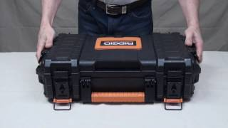 What I used: RIDGID 22 in. Pro Organizer, Black - http://www.homedepot.com/p/RIDGID-22-in-Pro-Organizer-Black-222571/