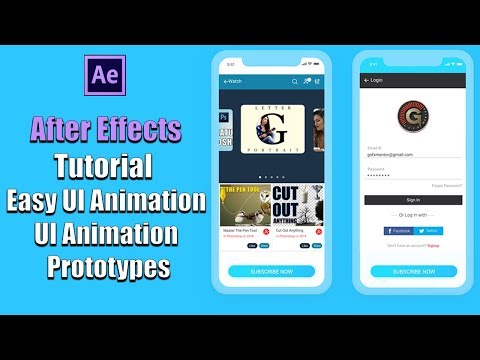 After Effects Tutorial  Easy UI Animation | Using After Effects for UI Animation Prototypes
